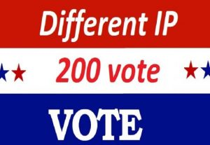 Get offer 200 Different IP votes contest that you are participating