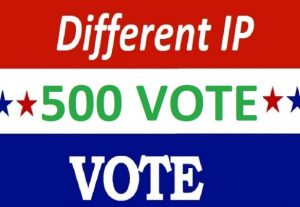 Get offer 500 Different IP votes contest that you are participating