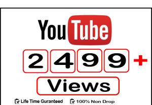 Get 2499+ Instant YouTube View,Life Time Guaranteed