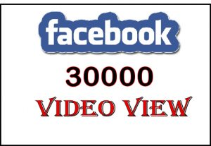 Get 30000 to 32000 Facebook HQ Video View or Organic 800+ Facebok post like