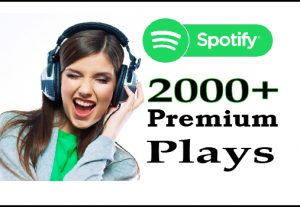 Get Spotify 2000+ Premium Plays or Follower For 5$