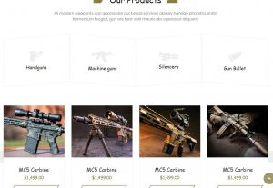 Weapon Store – Gun Shop HTML Template