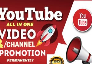 MANUALLY YOUTUBE CHANEL OR VIDEO PROMOTION VIA REAL USER for $20