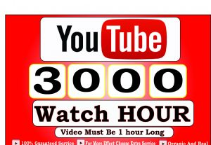 Get 3000+ Hour Youtube Watch Time,Life Time Guranteed Service For 45$