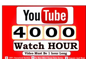 Get 4000+ Hour Youtube Watch Time,Life Time Guranteed Service For 70$