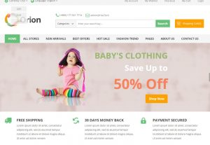 Orion – Mega Shop eCommerce HTML Responsive Template