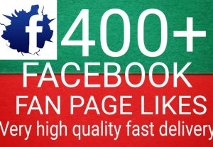 I will Promote 400+ Facebook Fan Page Likes high quality and fast delivery