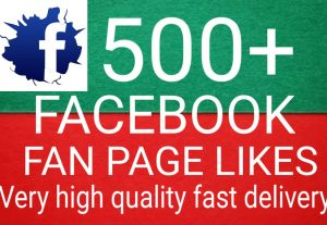 I will Promote 500+ Facebook Fan Page Likes high quality and fast delivery
