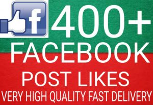 I will Promote 400+ Facebook Post Likes high quality and fast delivery