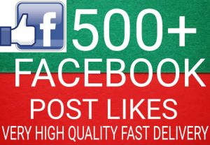 I will Promote 500+ Facebook Post Likes high quality and fast delivery