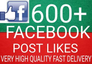 I will Promote 600+ Facebook Post Likes high quality and fast delivery