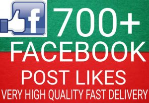 I will Promote 700+ Facebook Post Likes high quality and fast delivery