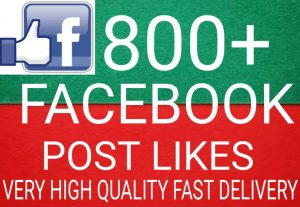 I will Promote 800+ Facebook Post Likes high quality and fast delivery