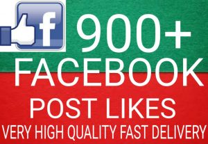 I will Promote 900+ Facebook Post Likes high quality and fast delivery