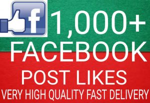 I will Promote 1,000+ Facebook post Likes high quality and fast delivery