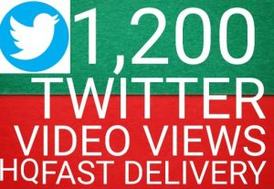 I will give you Add 1,200+ twitter videos views 100% Real Views high quality [Instant Start]