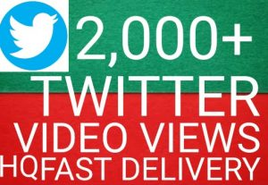I will give you  Add 2,000+ twitter Videos views 100%  Real Views high quality [Instant Start]