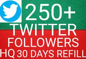 I will give you  Add 250+ twitter followers 100%  Real followers high quality [Instant Start]