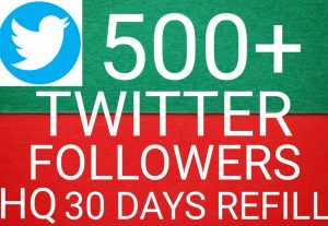 I will give you  Add 500+ twitter followers 100%  Real followers high quality [Instant Start]