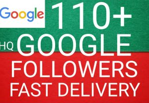 I will get you 110+ Google followers high quality and fast delivery