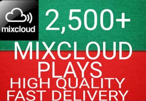 I WILL GIVE YOU 2,500+ MIXCLOUD PLAYS NON DROP AND ORGANIC HIGH QUALITY PROMOTION WITH INSTANT START