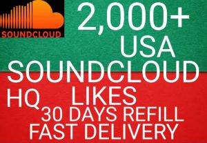 I will get you 2,000+ USA SoundCloud likes high quality and fast delivery