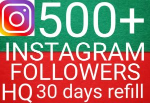 I will give you add 500+ Instagram followers high quality promotion Real organic with non drop fast delivery