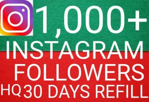 I will give you add 1,000+ Instagram followers high quality promotion Real organic with non drop fast delivery