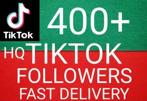 I will give you 400+ TikTok followers Non Drop & High Retention – Instant Start