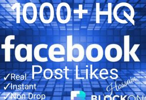 Promote your Facebook Post with 1000+ Likes at Instant with High quality Promotions,Real and 100% Organic.