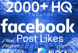 Promote your Facebook Post with 2000+ Likes at Instant with High quality Promotions,Real and 100% Organic.