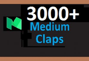 I will Give You Real 3000 Medium Claps