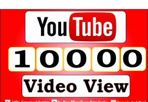 Get 10000+ High Quality Youtube Video View For 15$
