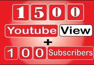 Get 1500 to 2000 HQ Youtube View With 100+ Qualityfull Subscribers. Life Time Guranteed