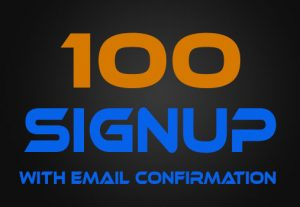100 Signup with Email Confirmation Vote