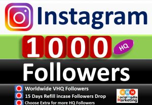 Get Instant 1000+ Instagram HQ Followers Real & Active Users, Refill Guaranteed incase Followers Drop