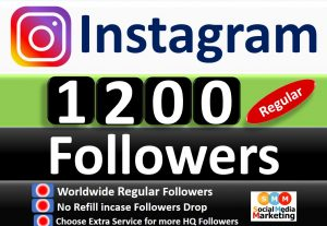 Get Instant 1200+ Instagram Followers Real & Active Users, No Refill if Drop. Choose Extra Service for Refill & HQ Followers service.