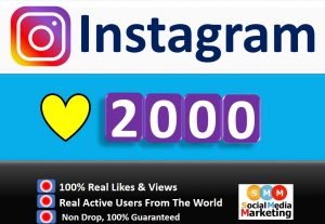 Get Instant 2000+ Instagram Likes, Real & Active Users, Non Drop Guaranteed