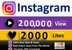 Get Instant 200,000+ Instagram Video views & 2000 Likes, Real & Active Users, Non Drop Guaranteed