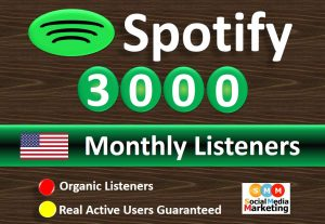 Get 3000+ Spotify Monthly Listeners From HQ USA Accounts Real Active Users  Guaranteed