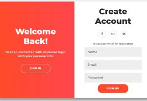 I will create awesome Modern Animated login signup in html,CSS, JavaScript form