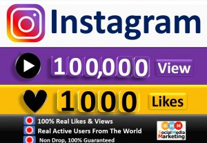 Get Instant 100,000+ Instagram Video views & 1000 Likes, Real & Active Users, Non Drop Guaranteed