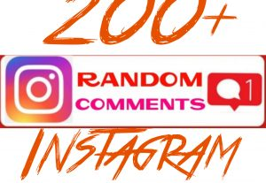 Add 200+ Instagram Random Comments Instantly