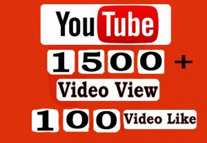 Hey1500+ Youtube Video View And 100+ Youtube Video Likes Only for $5