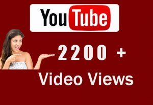 Get 2000+ High Quality Youtube Video View For 5$
