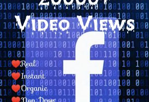 Promote your Facebook Post with 20000+ Video Views at Instant with High quality Promotions,Real and 100% Organic.
