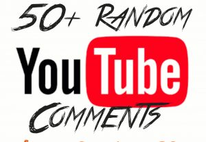 Add 50+ YouTube Random Comments with high quality promotion, real, non dropped and work instantly.