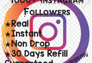 Add 1000+ Instagram Followers at instant, HQ,Non Drop & 30 days Guaranteed!!