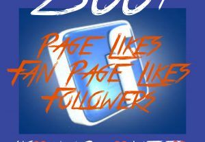 2500+ Page/Fan page Likes or Followers at Instant with High quality Promotions,Real and 100% Organic.