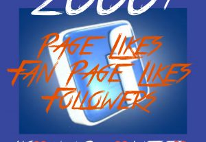 2000+ Page/Fan page Likes or Followers at Instant with High quality Promotions,Real and 100% Organic.